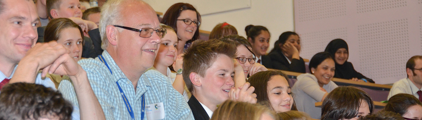 Children and adults in audience at Salters' Festival